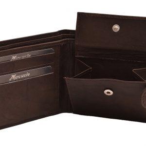Peňaženka matná hnedá