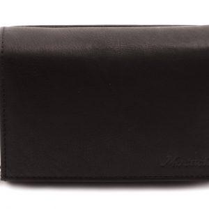 Peňaženka s euromincovníkom matná čierna
