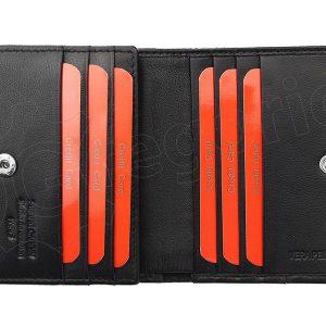 Pierre Cardin čierno-modrá pánska kožená peňaženka v krabičke