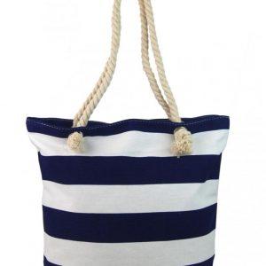 Modro-biela ľahká plážová taška cez rameno