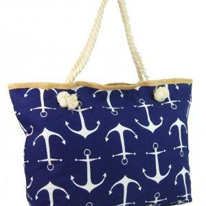Veľká tmavo modrá ľahká plážová taška cez rameno