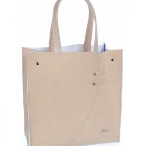 Ružová moderná obdĺžniková dámska kabelka GROSSO