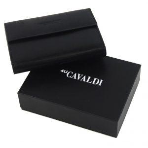Čierna dámska kožená peňaženka v krabičke Cavaldi