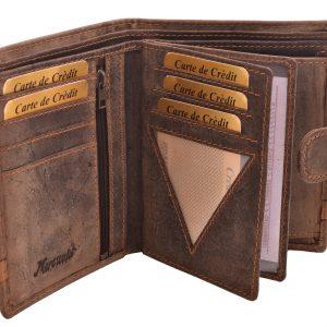 Pánska kožená peňaženka tmavohnedá