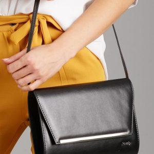 Čierna matná dámska listová kabelka W52 ROVICKY
