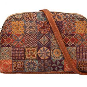 Crossbody dámska kabelka v korkovom dizajne SE250 typ1