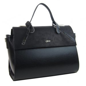 Štýlová dámska kabelka S754 čierna GROSSO