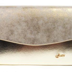 Zlatá dámska listová kabelka GROSSO