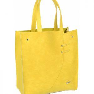 Žltá moderná obdĺžniková dámska kabelka S753 GROSSO