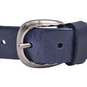 Kožený dámsky opasok modrý