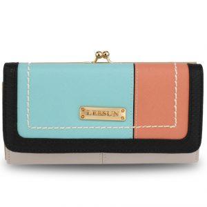 Peňaženka Lusum-Biela/Modrá