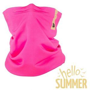 Tenký protivírusový nákrčník Respilon® R-Shield Light ružový letný
