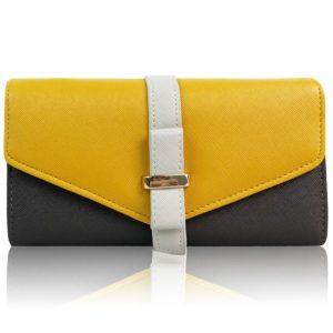 Peňaženka Sun-Žltá/Sivá