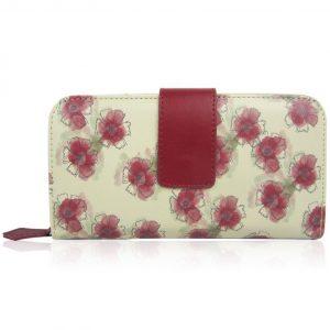 Peňaženka White Flower Biela/Bordová