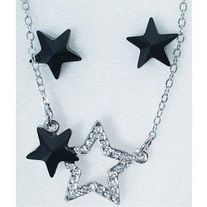 Set color Stars SWAROVSKI-Čierna