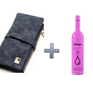 AKCIA 1+1. Štýlová dámska peňaženka + kozmetický doplnok kolagén