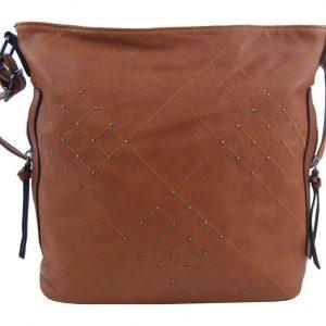 Hnedá crossbody dámska kabelka