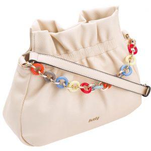 Béžová crossbody dámska kabelka