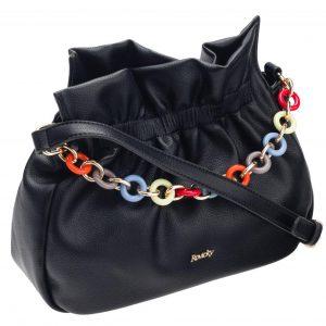Čierna crossbody dámska kabelka
