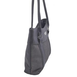 Dámska klasická kabelka šedá