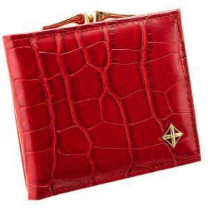 Červená kroko dámska peňaženka v darčekovej krabičke MILANO DESIGN