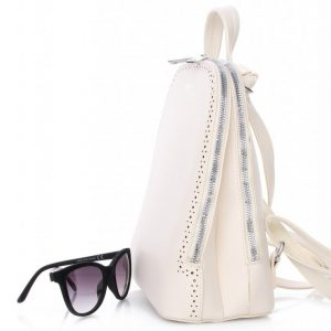 Krémový dámsky batôžtek / kabelka s dvoma oddielmi