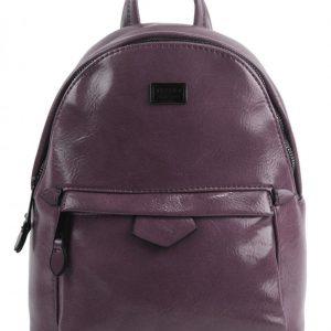 Malý purpurový lesklý dámsky batôžtek / kabelka 4827-TS