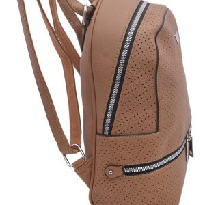 Dámsky koženkový batoh hnedý