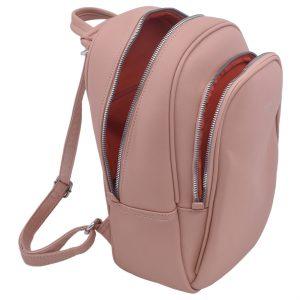 Dámsky koženkový batoh ružový