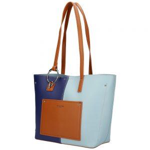 DAVID JONES Modrá dámska kabelka cez rameno