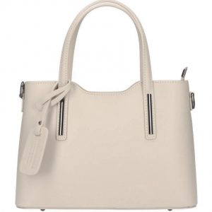 Kožená béžová dámska kabelka do ruky Maila