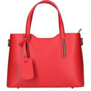 Kožená červená dámska kabelka do ruky Maila