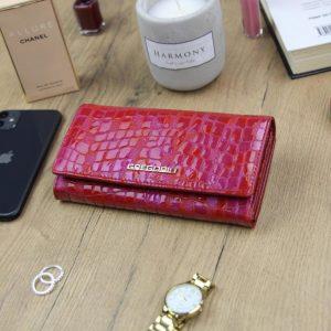 Gregorio Kožená červená dámska peňaženka v darčekovej krabičke