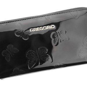 Gregorio luxusná čierna dámska kožená peňaženka v darčekovej krabičke