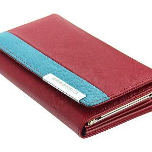 Gregorio Kožená červeno-modrá dámska peňaženka v darčekovej krabičke