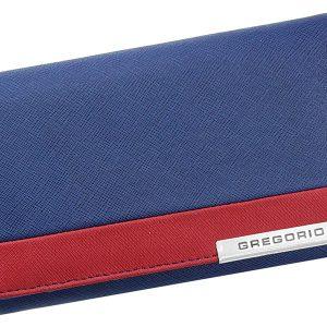Gregorio Kožená modro-červená dámska peňaženka v darčekovej krabičke
