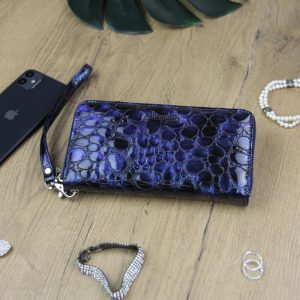 Gregorio luxusná modrá dámska kožená peňaženka v darčekovej krabičke
