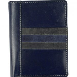 Kožená pánska peňaženka modrá WILD