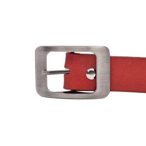 Kožený dámsky opasok červený