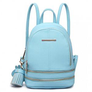 Roztomilý dizajnový modrý dámský batôžtek Miss Lulu
