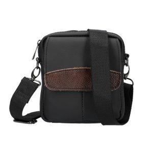 Menšia pánska crossbody taška čierna