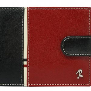 ROVICKY Čierno-červená kožená pánska peňaženka RFID v krabičke