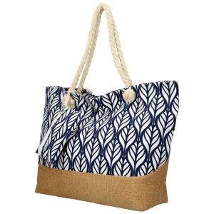 Veľká modrá plážová taška cez rameno