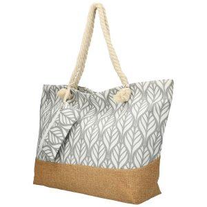 Veľká šedá plážová taška cez rameno