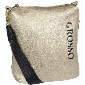 Zlatá dámska crossbody kabelka M303 GROSSO