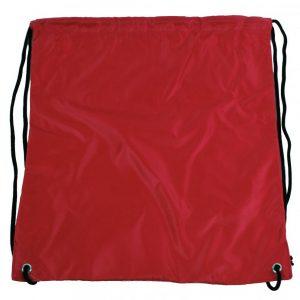 Vrecúško do telocviku / na cvičky jednofarebný sťahovateľný červený 3H02