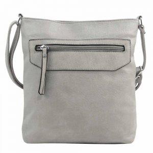 Sivá crossbody dámska kabelka