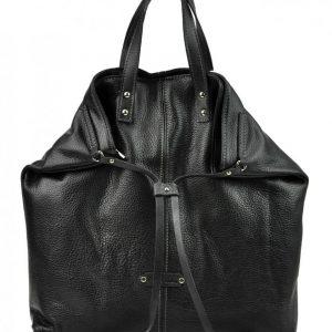 Pierre Cardin Kožená veľká dámska kabelka do ruky / ruksak čierna