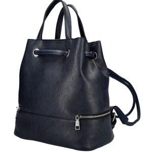 Tmavo modrý dámsky batôžtek do ruky aj na chrbát