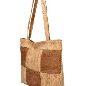 Korková prírodná dámska kabelka cez rameno MR011
